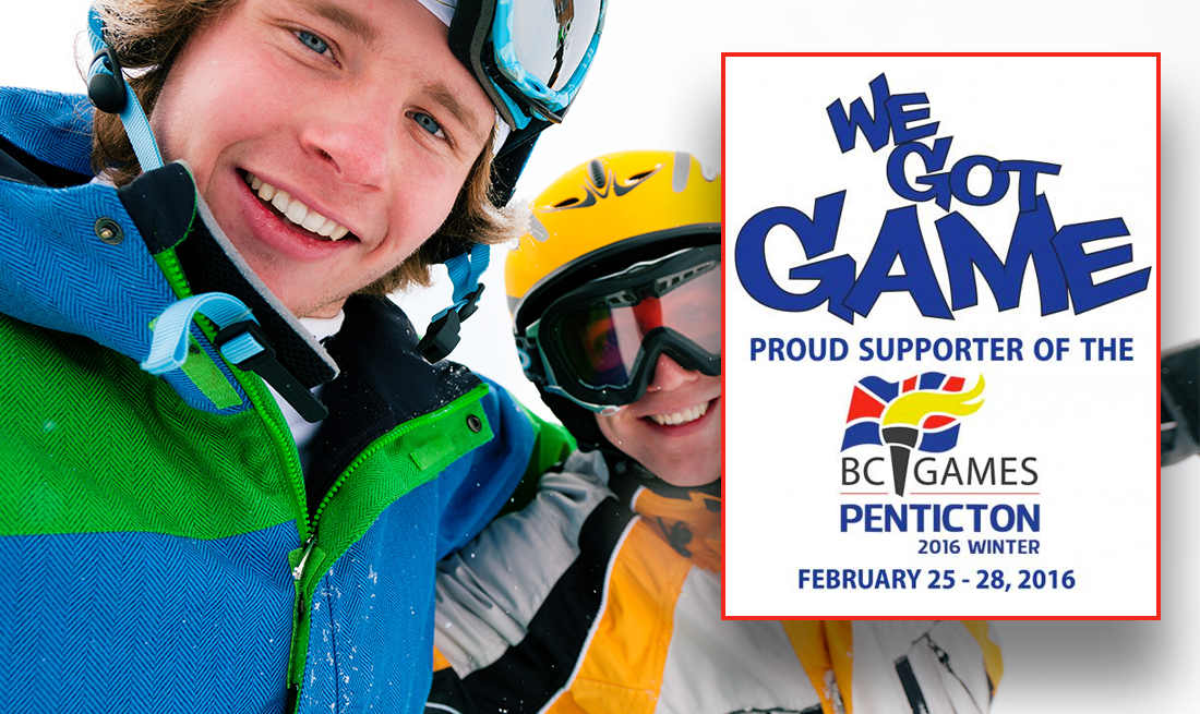 Proud Supporter of the 2016 BC Winter Games